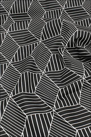 Геометрия черная, хлопок-лен