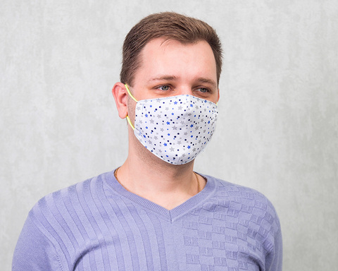 Хлопковая маска для взрослых «Звёзды»