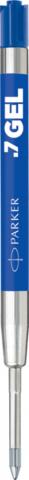Гелевые стержени Parker Quink Gel, цвет Blue, толщина линии M (0.7), в блистере 2 шт.