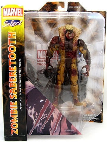 Марвел Селект фигурка Саблезуб Зомби — Marvel Select Sabretooth Zombie