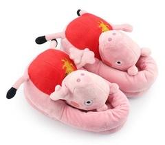 Розовая Свинка тапочки детские