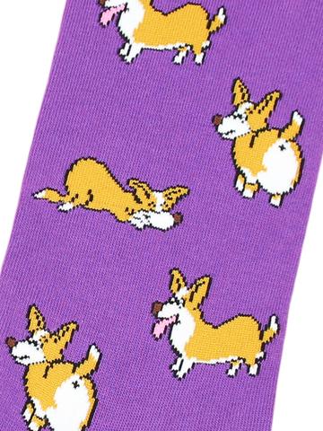 Носки Корги фиолетовый