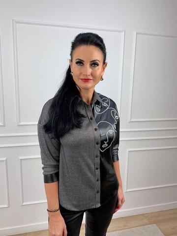 Блузка Teresa комбиниров вышивка лица
