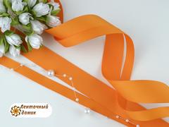 Лента репсовая мандарин ширина от 6 до 22 мм