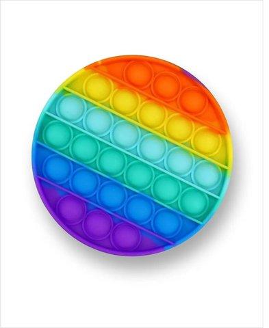 Антистресс игрушка Pop It, круг, радужный