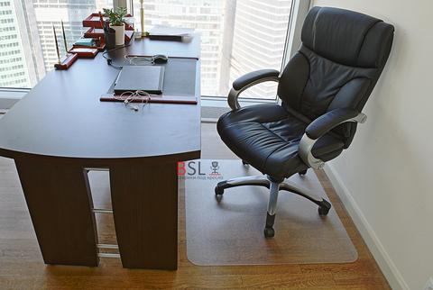 Защитный коврик под кресло 900x900 мм шагрень