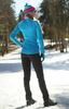 Элитный утеплённый лыжный костюм Nordski Elite Blue/Black женский