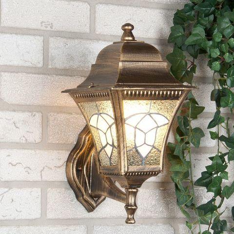 Уличный настенный светильник Altair черное золото