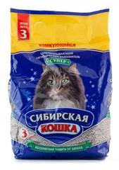 Наполнитель для кошачьего туалета, Сибирская Кошка комкующийся Супер