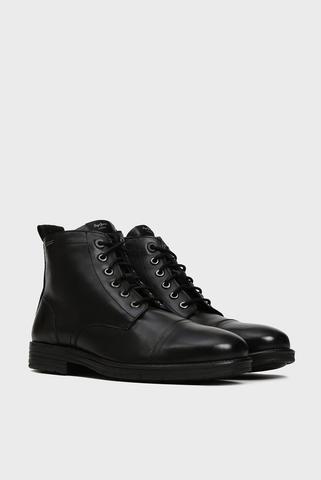Мужские черные кожаные ботинки TOM CUT MED TOTO Pepe Jeans