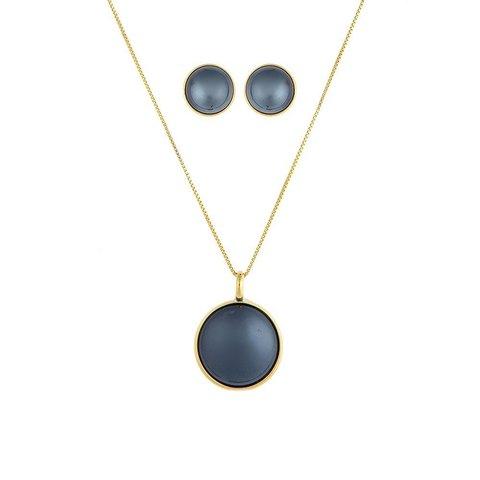 Комплект pearl black agate S1565.4 BW/G