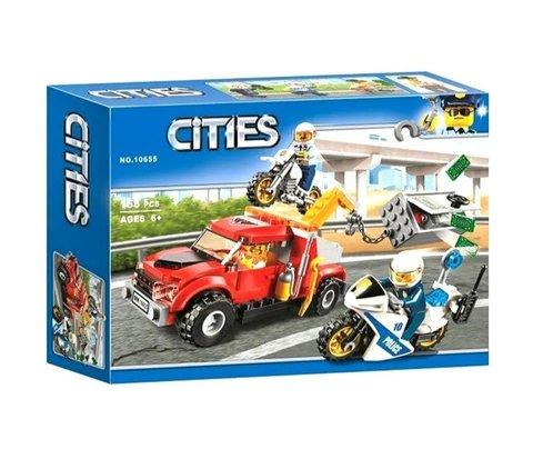 Конструктор Cities 10655 Побег на буксировщике