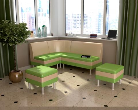 Набор мебели для кухни СЕКРЕТ-2 фисташковый / бежевый