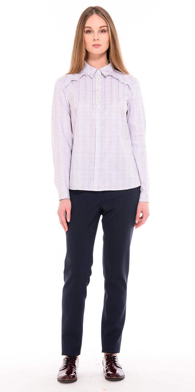 Брюки А460б-125 - Если вам надоели черные брюки; замените их на свободный крой брюки, благородного темно-синего цвета. Это удобная модель базового гардероба, в комплекте с блузками, рубашками или т-шотами вы получите разнообразные луки для офиса и для повседневной жизни.