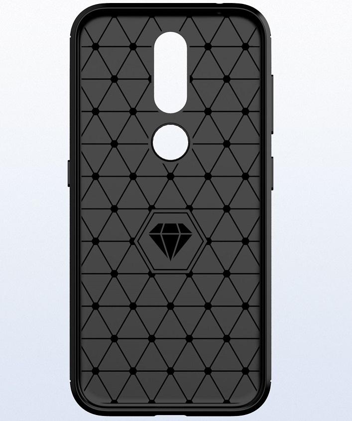 Чехол Nokia 4.2 цвет Gray (серый), серия Carbon, Caseport