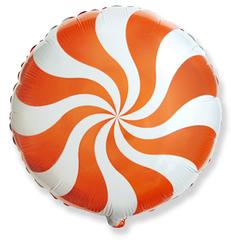 F Мини-круг, Леденец, карамель, конфета, Оранжевый, 9''/23 см, 5 шт.