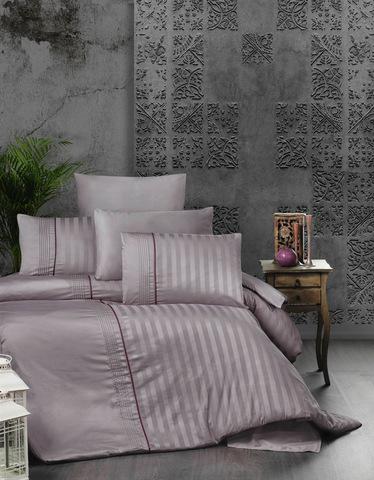 Комплект постельного белья DO&CO Сатин  жаккард DELUX 200*220 (50*70/2) (70*70/2) MODALIFE цвет лаванда