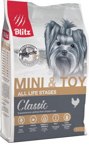 купить Blitz Adult Mini & Toy Breeds сухой корм для взрослых собак мелких и миниатюрных пород