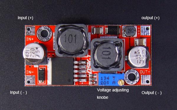 Обозначения разъёмов стабилизатора напряжения 3-35V, 1.2-30V