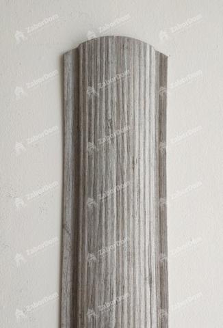 Евроштакетник металлический 110 мм Ясень фигурный 0.5 мм