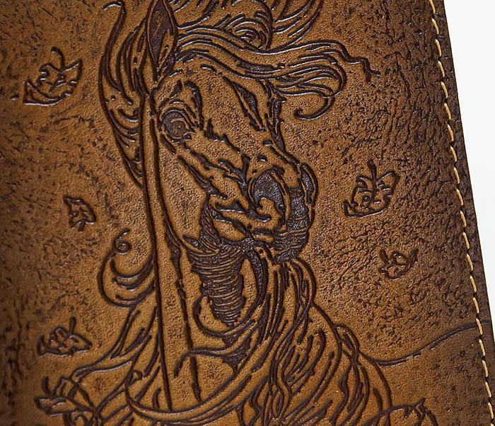 BY041506 Кожаная обложка для авто документов с изображением «Моя Лошадка» фото 03