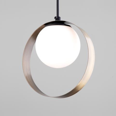 Подвесной светильник со стеклянным плафоном 50205/1 черный/бронза