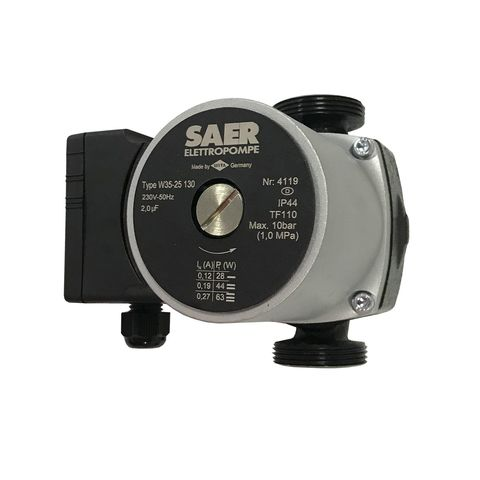 Насос циркуляционный SAER W35-25 130мм + гайки