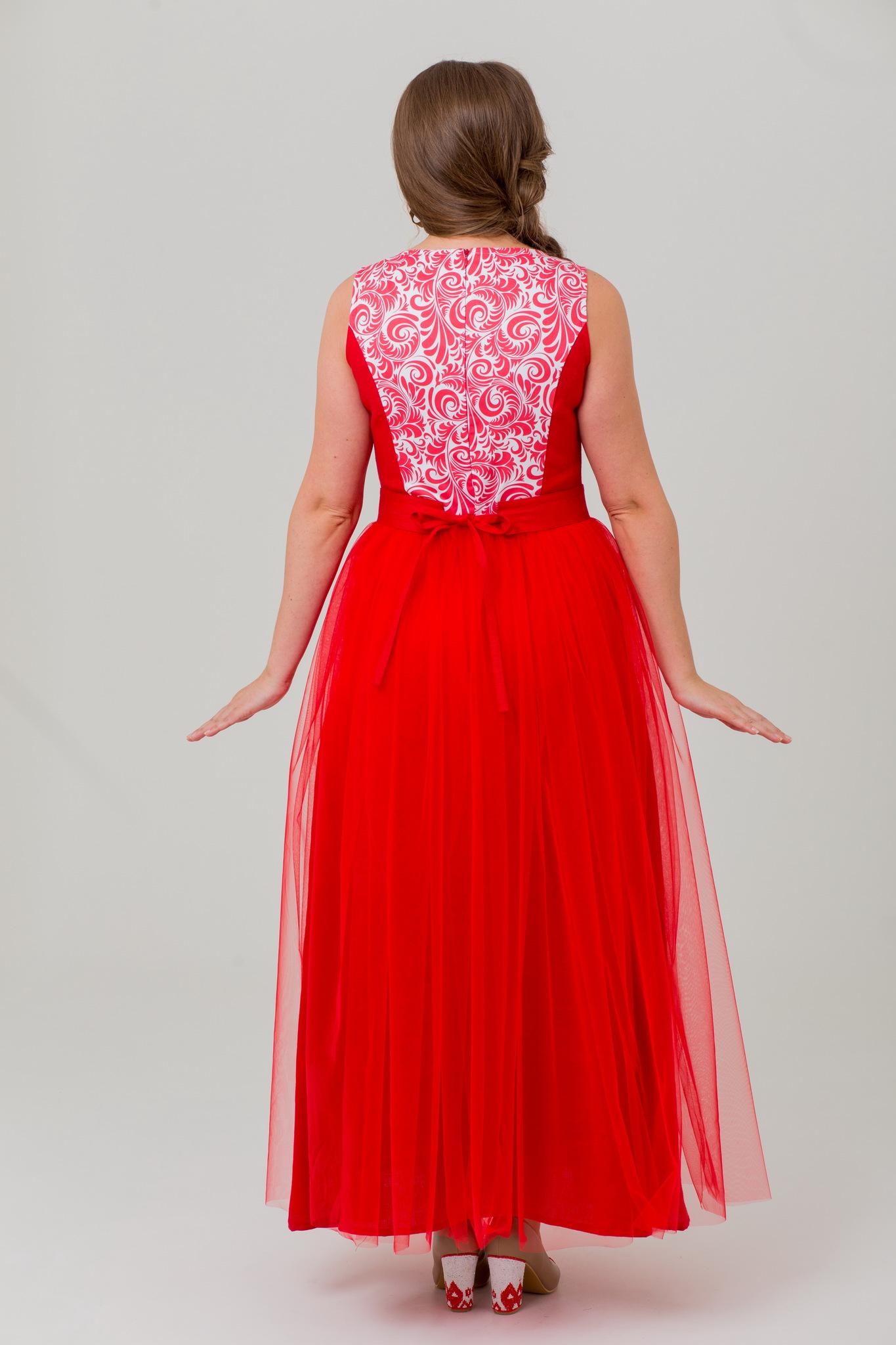 Платье праздничное льняное Аленький цветочек