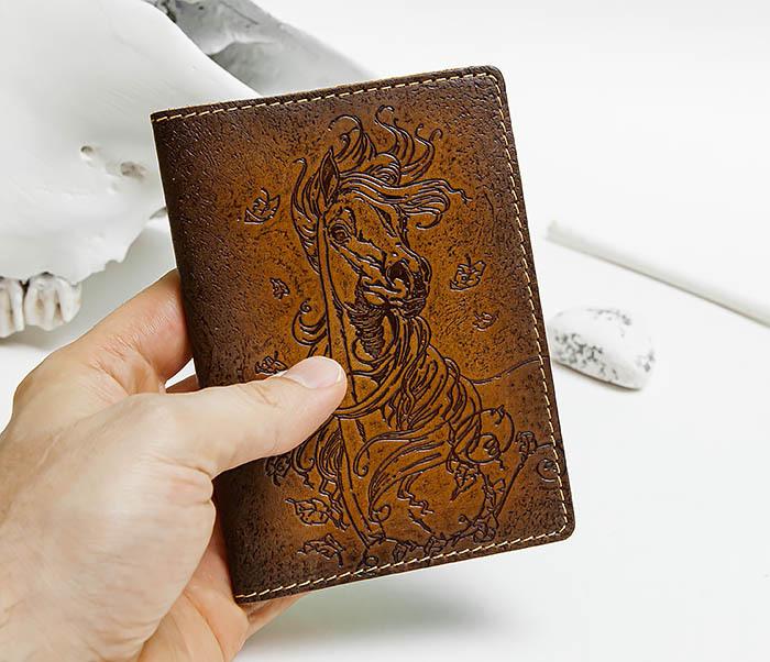 BY041506 Кожаная обложка для авто документов с изображением «Моя Лошадка» фото 04