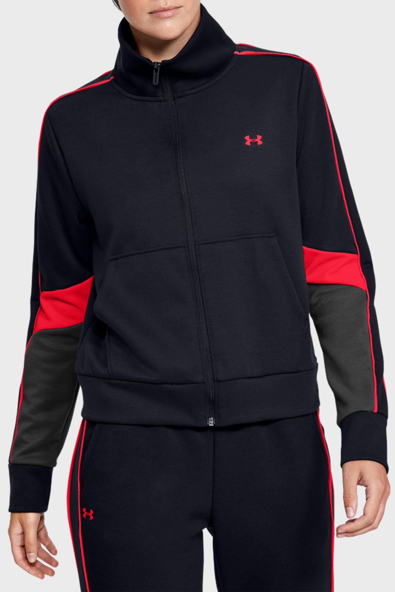 Женская черная спортивная кофта Double Knit FZ Under Armour