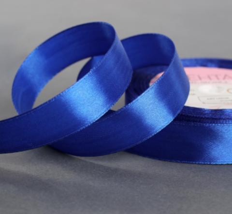 Лента атласная,цвет синий,20мм*23±1м