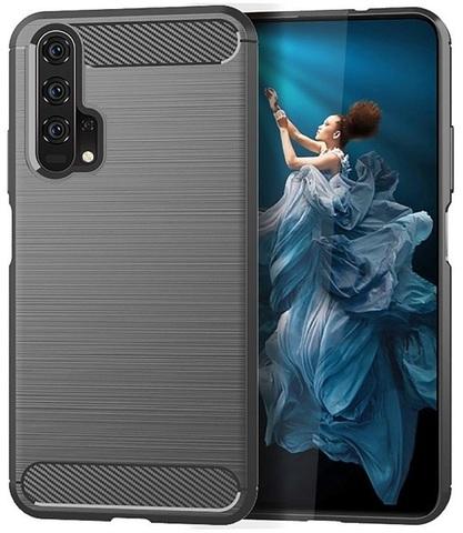 Чехол Carbon для Honor 20/20S/20Pro/Huawei Nova5T серия Карбон | серый