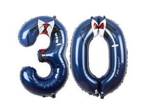 Шары цифры 30 лет Костюм