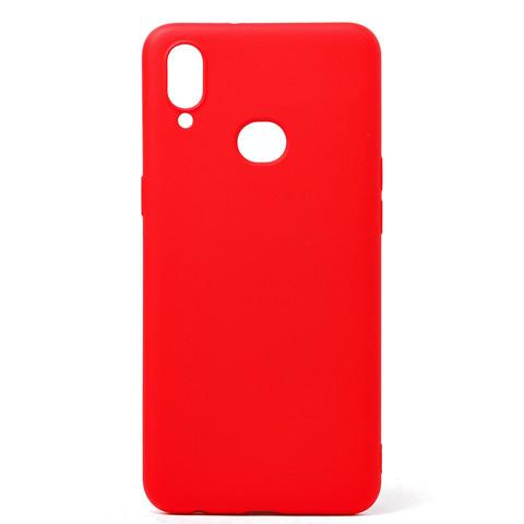 Чехол для Samsung (A107) Galaxy A10s Софт тач мягкий эффект | микрофибра красный