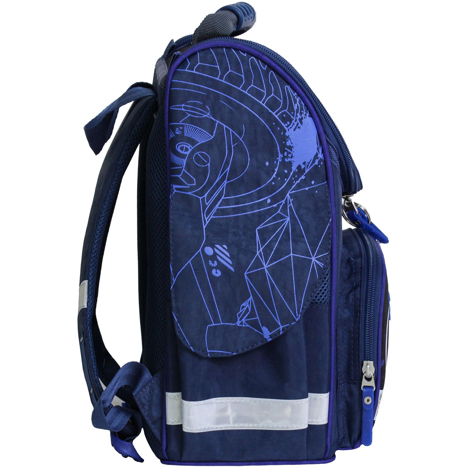 Рюкзак школьный каркасный с фонариками Bagland Успех 12 л. синий 248к (00551703)