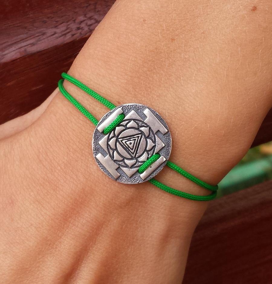 Kali Yantra Bracelet, sterling silver