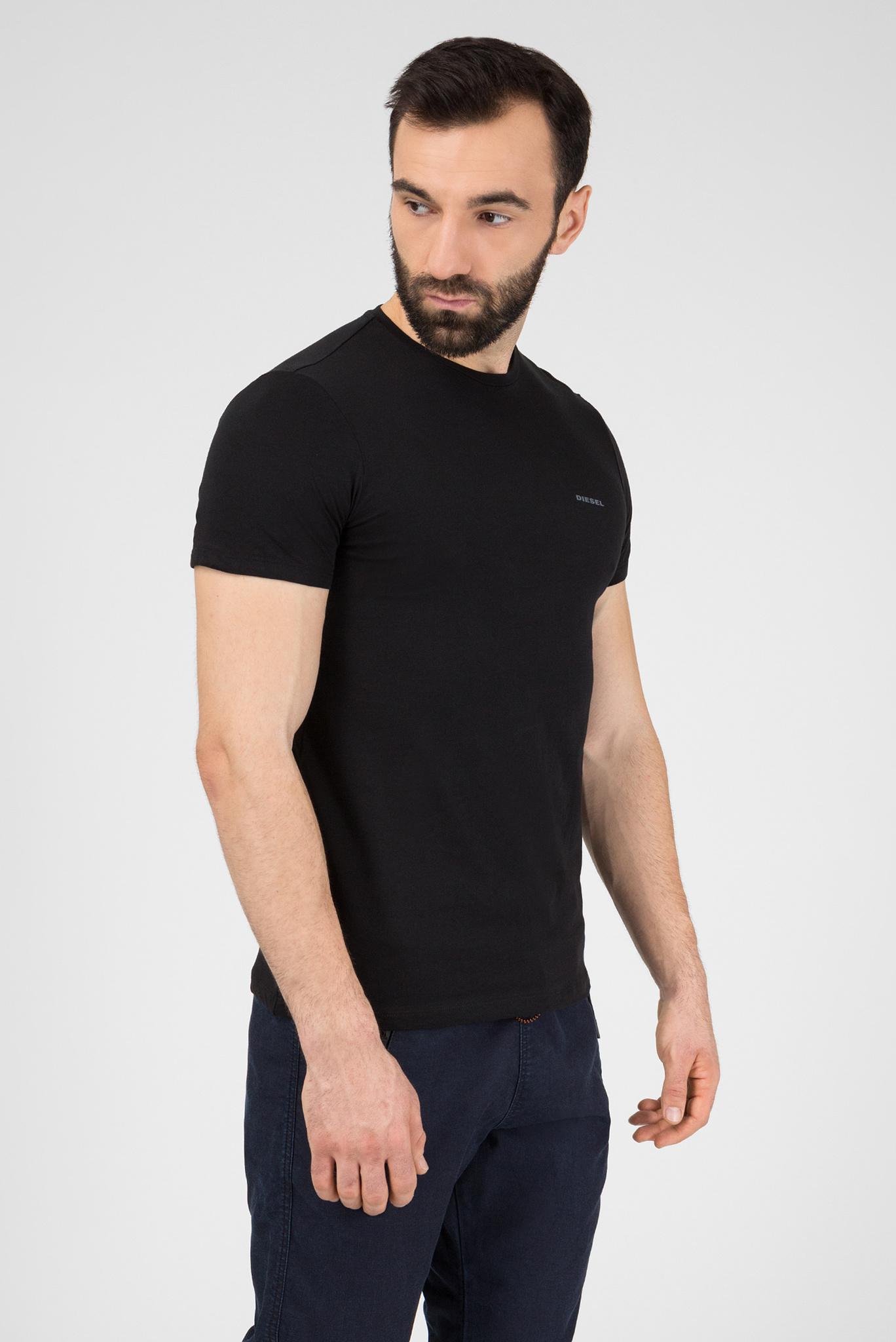 Мужская черная футболка (3 шт) Diesel