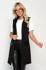 <p>Классический жилет в модном исполнении!!! Модель отлично сочетается с простыми базовыми футболками, майками, джинсами. Свежий взгляд на классику.&nbsp;</p>