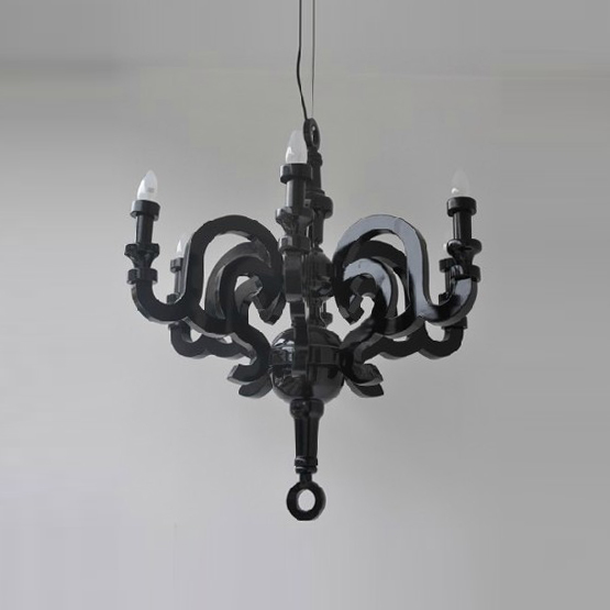 Подвесной светильник копия Paper by Moooi (черный, D70)