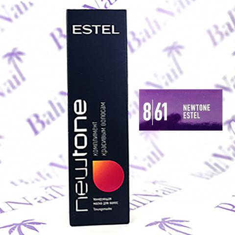 NEWTONE Тонирующая маска для волос 8/61 Светло-русый фиол.-пепельный, 60 мл
