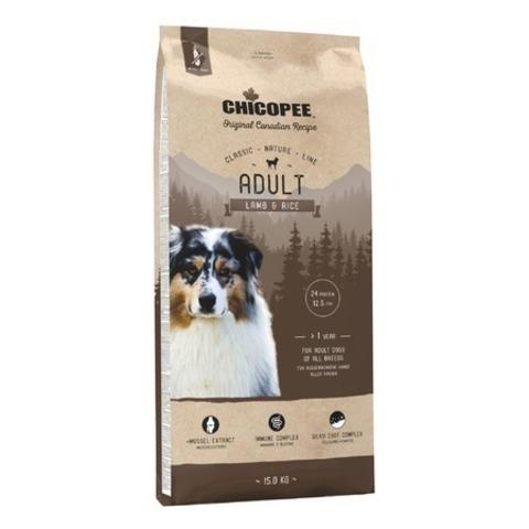 Chicopee CNL Adult Lamb & Rice сухой корм для взрослых собак всех пород с ягненком и рисом, 15 кг.