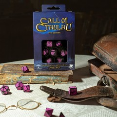Call of Cthulhu 7th Edition Black & magenta Dice Set
