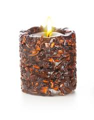 Свеча-эко ручной работы EASY с дробленной скорлупой аниса, d 8 h 8см/ круглая TM Aromatte