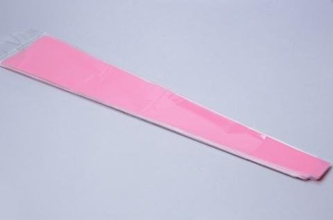Пакет цветочный Конус на 1 розу (размер: 15/80) прозрачный/бледно-розовый (упаковка: 50 шт.)