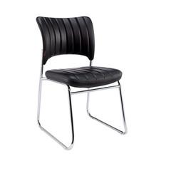 Стул офисный Easy Chair 809 VPU черный (искусственная кожа/металл хромированный)