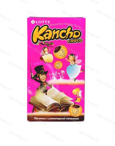 Печенье с шоколадной начинкой Kancho Lotte, Корея, 42 гр.