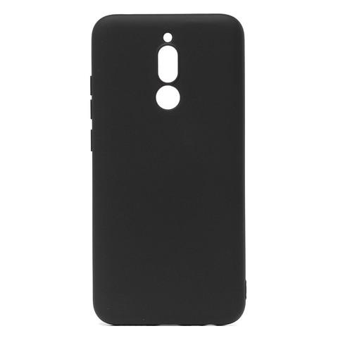 Чехол для Xiaomi Redmi 8 Софт тач мягкий эффект   микрофибра черный