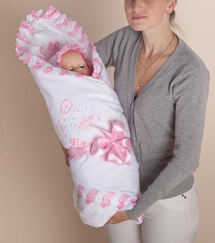 Комплект на выписку для новорожденного  4пр.