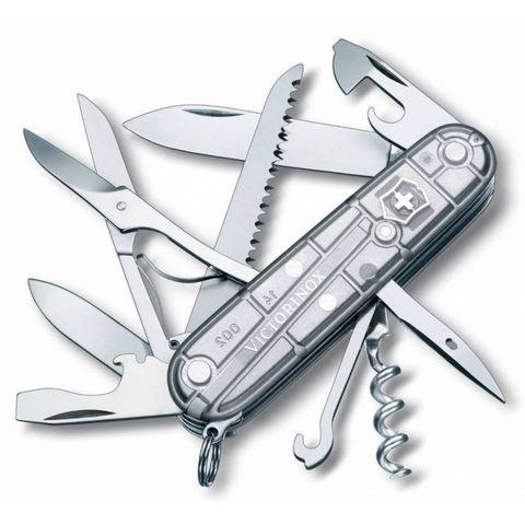 Нож перочинный Victorinox Huntsman (1.3713.T7) 91мм 15функций серебристый полупрозрачный