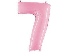 Г 40''/102см, Цифра 7, Матовый розовый.